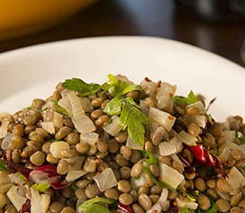 Fennel Studded French Lentils