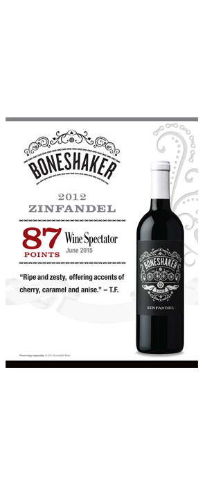 Boneshaker Zinfandel Hot Sheet