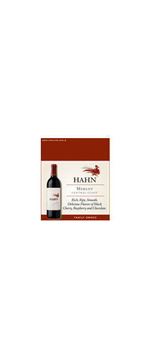 Hahn Merlot Shelf Talker
