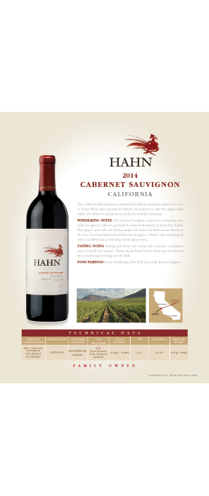Hahn Cabernet Sauvignon Technical Note