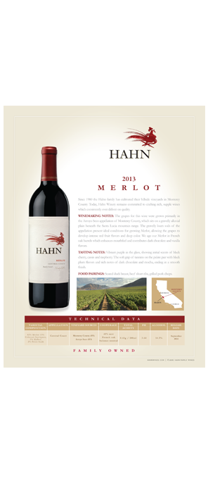 Hahn Merlot Technical Note