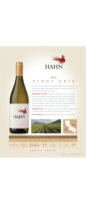 Hahn Pinot Gris Technical Note