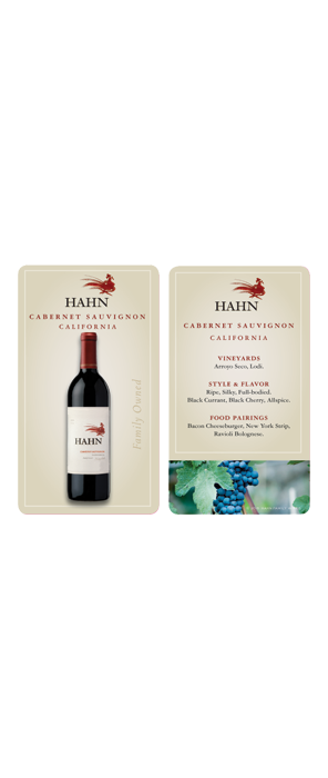 Hahn Cabernet Sauvignon Wait Staff Card