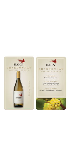 Hahn Chardonnay Wait Staff Card