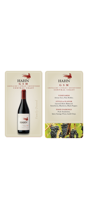 Hahn GSM Wait Staff Card