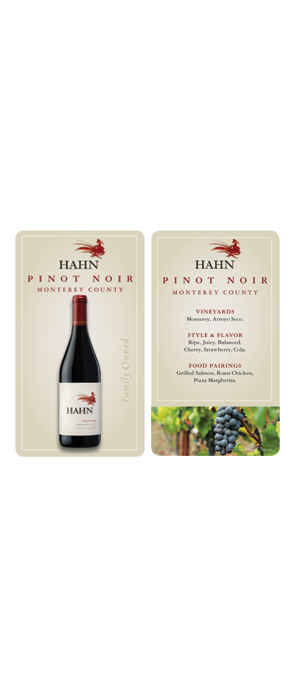 Hahn Pinot Noir Wait Staff Card