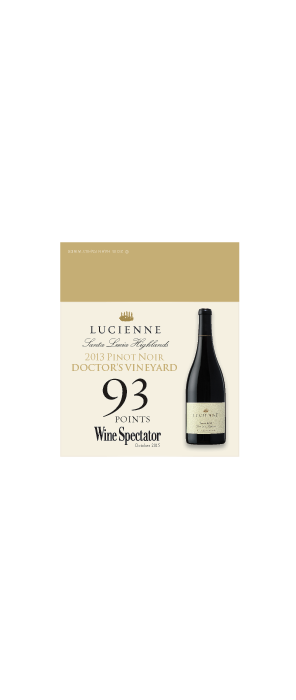Lucienne Doctor's Vineyard Shelf Talker