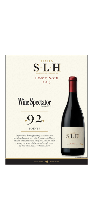 Hahn SLH Pinot Noir Hot Sheet, 2013 Image