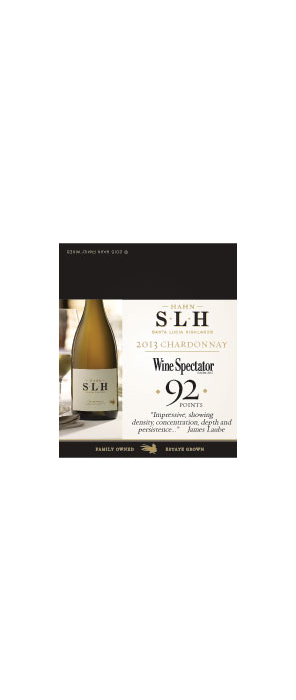 Hahn SLH Chardonnay Accolade Shelf Talker